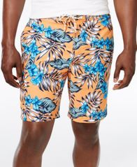 Image of Tommy Bahama Men's Baja Best Fronds Tropical-Print Sun Protection 30 Swim Trunks