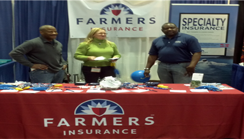 The Farmers® booth at the KC Boat Show.