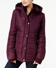 Image of Rampage Juniors' Hooded Puffer Coat, Created for Macy's