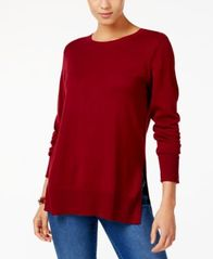 Image of Style & Co Crew-Neck Sweater, Created for Macy's