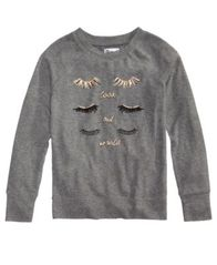 Image of Epic Threads Eyelashes Graphic Sweatshirt, Big Girls (7-16), Created for Macy's