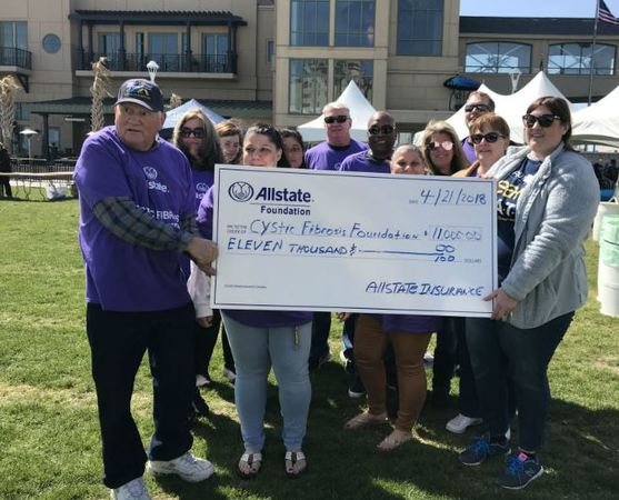 Mike Sanoba - Cystic Fibrosis Foundation Receives Allstate Foundation Helping Hands Grant