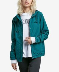 Image of Volcom Juniors' Hooded Windbreaker