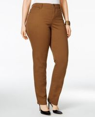 Image of Style & Co Plus & Petite Plus Size Tummy-Control Slim-Leg Jeans, Created for Macy's