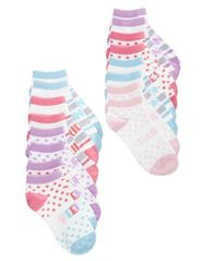 Image of 8-Pk. Days Of The Week No-Show Socks, Little Girls (4-6X) & Big Girls (7-16), a Macy's Exclusive Sty