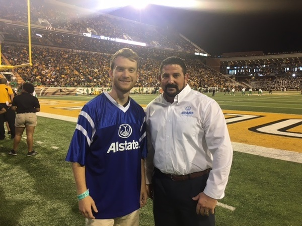 Joey Lee - Agent Joey Lee Participated in the Allstate Kick Promotion on October 29th 2016 for the Southern Mississippi Football Game