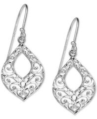 Image of Giani Bernini Filigree Openwork Drop Earrings in Sterling Silver, Created for Macy's