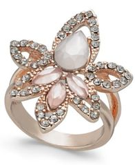 Image of I.N.C. Rose Gold-Tone Multi-Stone Statement Ring, Created for Macy's