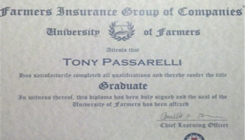 My Degree from Farmers® University.