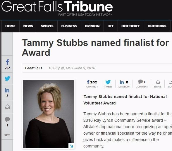 Tammy J Quintrell-Stubbs - Ray Lynch Community Service Award Finalist