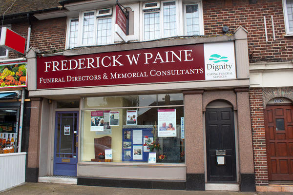 Frederick W Paine Funeral Directors in Sutton