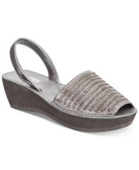 Image of Kenneth Cole Reaction Women's Fine Stripe Wedge Sandals