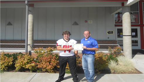 Evan Barger, Student Athlete of the Week 9/1/15