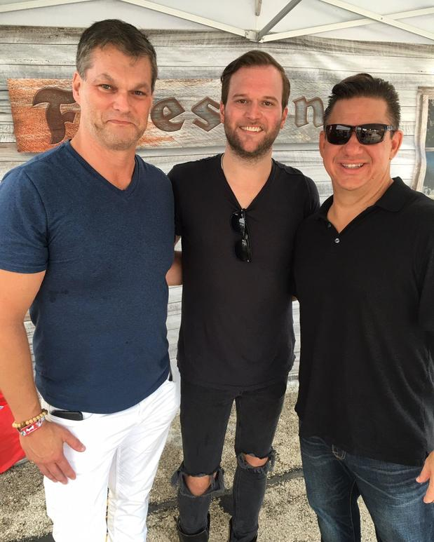 Dave with friend Matt and Country Star Ryan Kinzior