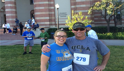 10k run with my client & friend Maria  on campus at UCLA