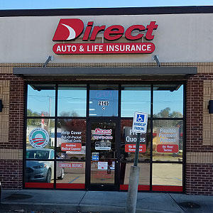 Front of Direct Auto store at 2145 Bessemer Road, Birmingham