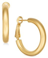 Image of Essentials Small Polished Gold Plated Hoop Earrings