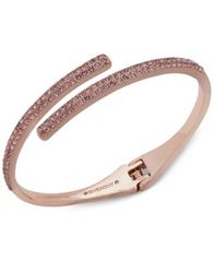 Image of Givenchy Crystal Bypass Bangle Bracelet