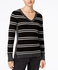 Image of Hippie Rose Juniors' Step-Hem Sweater