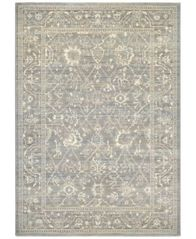"Image of Couristan McKinley Persian Arabesque Charcoal-Ivory 2' x 3'7"" Area Rug"