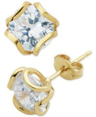 Image of Giani Bernini Cubic Zirconia Petal Stud Earrings, Created for Macy's