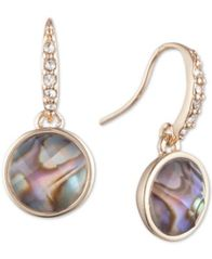 Image of lonna & lilly Gold-Tone Pavé & Stone Drop Earrings