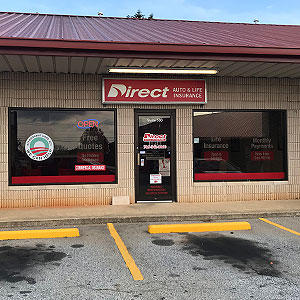 Front of Direct Auto store at 1402 Eatonton Road, Madison