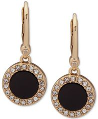Image of DKNY Pavé & Stone Small Drop Earrings, Created for Macy's