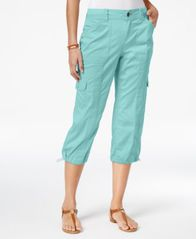 Image of Style & Co Petite Cargo Capri Pants, Created for Macy's