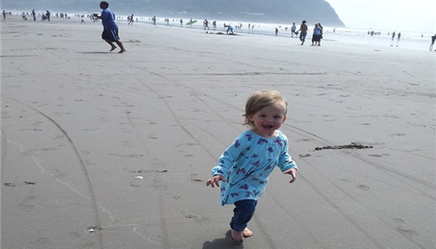 This is Ava from Spencer Lund Agency first trip to the beach