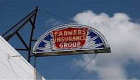 An old Farmers Insurance Group sign