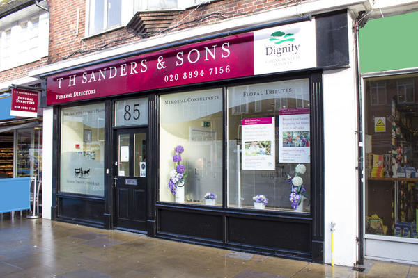 T H Sanders & Sons Funeral Directors in Whitton