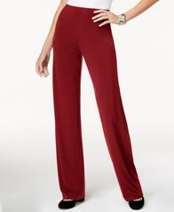 Image of Alfani Knit Wide-Leg Trousers, Created for Macy's