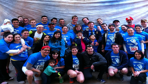 "We sponsored ""Steph's Steppers"" at the 2012 Cystic Fibrosis Tower Climb."