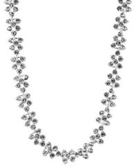 Image of Anne Klein Silver-Tone Glass Crystal Collar Necklace