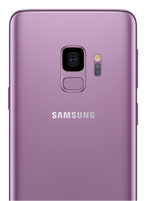 The back of the Samsung Galaxy S9| S9+ highlighting the phone's camera