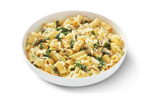 Cauliflower Rigatoni in Light Onion Cream Sauce
