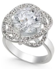 Image of Charter Club Silver-Tone Crystal Love Knot Statement Ring, Created for Macy's