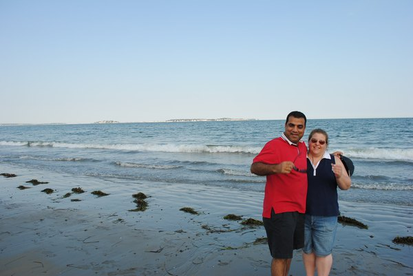 Photo of agent with wife at Ventura Beach