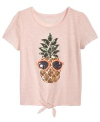 Image of Epic Threads Sequin Pineapple T-Shirt, Big Girls, Created for Macy's