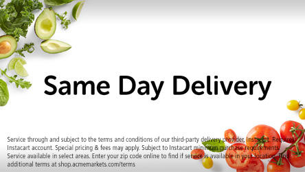 Same Day Delivery.  Avocados and tomatoes.