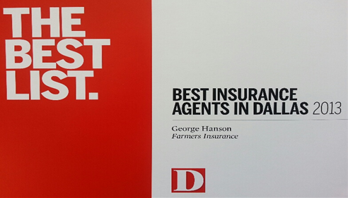 D Magazines 'Best Insurance Agents in Dallas' for second consecutive year