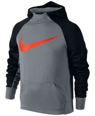 Image of Nike Swoosh Print Therma Hoodie, Big Boys