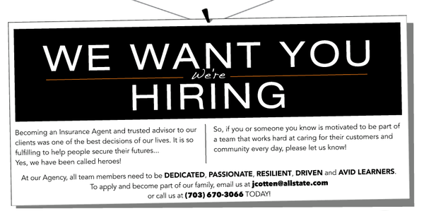 We Are Hiring Quotes: Life, Home, & Car Insurance Quotes In Woodbridge, VA