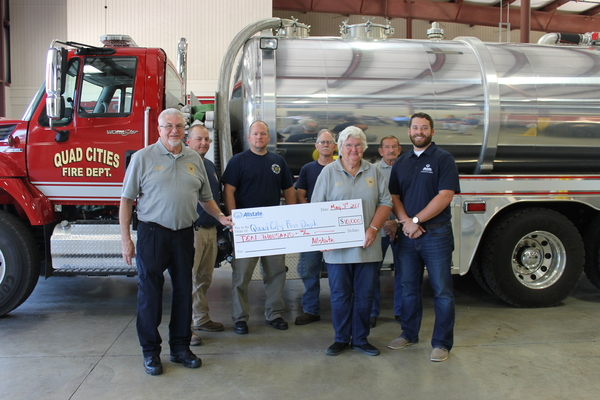 Tyler Elliott - Allstate Foundation Helping Hands Grant for Quad Cities Volunteer Fire Department