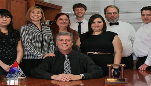 Staff (L to R): Nancy, Renée, Ross, Kat, Dylan, Beatriz, David, and James.