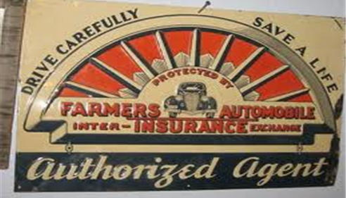 An old Farmers Automotive sign