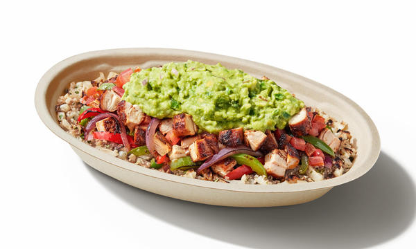 Chipotle Mexican Grill Whole30® chicken bowl with cilantro-lime cauliflower rice