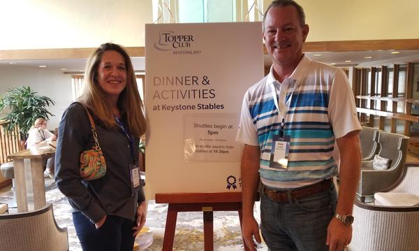 Kerri and Philip attending the 2017 Topper Club awards weekend in beautiful Keystone, CO.