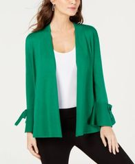 Image of Alfani Tie-Sleeve Cardigan, Created for Macy's